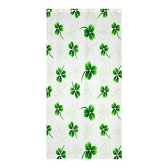 Leaf Green White Shower Curtain 36  X 72  (stall)  by Mariart