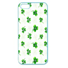 Leaf Green White Apple Seamless Iphone 5 Case (color) by Mariart