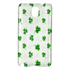 Leaf Green White Samsung Galaxy Note 3 N9005 Hardshell Case by Mariart