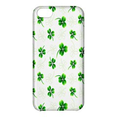 Leaf Green White Apple Iphone 5c Hardshell Case by Mariart