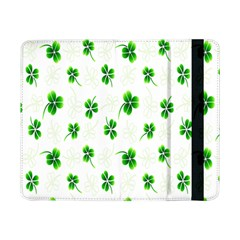 Leaf Green White Samsung Galaxy Tab Pro 8 4  Flip Case by Mariart