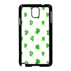 Leaf Green White Samsung Galaxy Note 3 Neo Hardshell Case (black) by Mariart