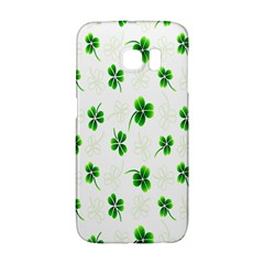 Leaf Green White Galaxy S6 Edge by Mariart
