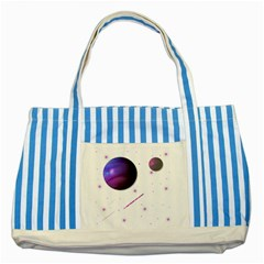 Space Transparent Purple Moon Star Striped Blue Tote Bag by Mariart