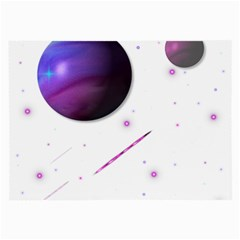 Space Transparent Purple Moon Star Large Glasses Cloth by Mariart