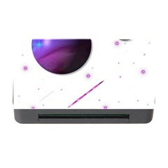 Space Transparent Purple Moon Star Memory Card Reader With Cf by Mariart