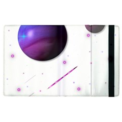 Space Transparent Purple Moon Star Apple Ipad 2 Flip Case by Mariart