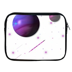 Space Transparent Purple Moon Star Apple Ipad 2/3/4 Zipper Cases by Mariart