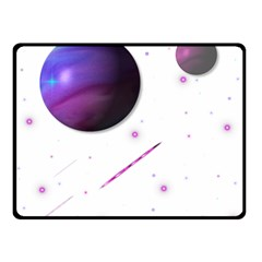 Space Transparent Purple Moon Star Double Sided Fleece Blanket (small)  by Mariart