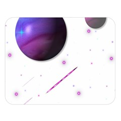 Space Transparent Purple Moon Star Double Sided Flano Blanket (large)  by Mariart