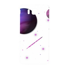 Space Transparent Purple Moon Star Samsung Galaxy Alpha Hardshell Back Case by Mariart