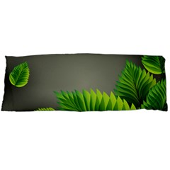 Leaf Green Grey Body Pillow Case Dakimakura (two Sides) by Mariart