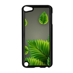Leaf Green Grey Apple Ipod Touch 5 Case (black) by Mariart
