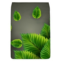 Leaf Green Grey Flap Covers (l)  by Mariart