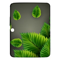 Leaf Green Grey Samsung Galaxy Tab 3 (10 1 ) P5200 Hardshell Case  by Mariart
