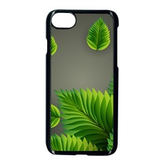 Leaf Green Grey Apple Iphone 7 Seamless Case (black) by Mariart