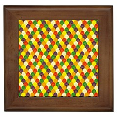 Flower Floral Sunflower Color Rainbow Yellow Purple Red Green Framed Tiles by Mariart