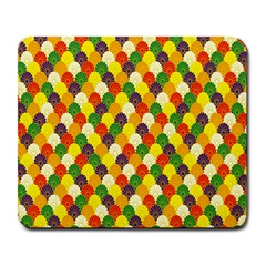 Flower Floral Sunflower Color Rainbow Yellow Purple Red Green Large Mousepads by Mariart