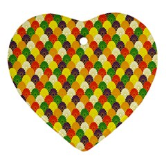 Flower Floral Sunflower Color Rainbow Yellow Purple Red Green Heart Ornament (two Sides)