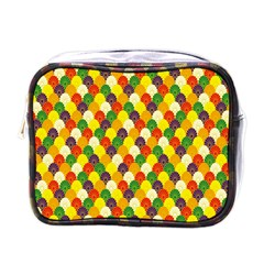 Flower Floral Sunflower Color Rainbow Yellow Purple Red Green Mini Toiletries Bags by Mariart