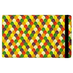 Flower Floral Sunflower Color Rainbow Yellow Purple Red Green Apple Ipad 2 Flip Case by Mariart