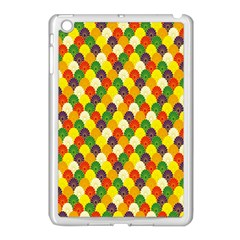 Flower Floral Sunflower Color Rainbow Yellow Purple Red Green Apple Ipad Mini Case (white) by Mariart