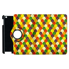 Flower Floral Sunflower Color Rainbow Yellow Purple Red Green Apple Ipad 2 Flip 360 Case by Mariart