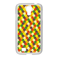 Flower Floral Sunflower Color Rainbow Yellow Purple Red Green Samsung Galaxy S4 I9500/ I9505 Case (white)