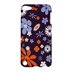 Bright Colorful Busy Large Retro Floral Flowers Pattern Wallpaper Background Apple Ipod Touch 5 Hardshell Case by Nexatart