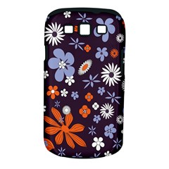 Bright Colorful Busy Large Retro Floral Flowers Pattern Wallpaper Background Samsung Galaxy S Iii Classic Hardshell Case (pc+silicone)