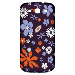 Bright Colorful Busy Large Retro Floral Flowers Pattern Wallpaper Background Samsung Galaxy S3 S Iii Classic Hardshell Back Case