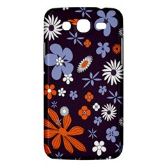Bright Colorful Busy Large Retro Floral Flowers Pattern Wallpaper Background Samsung Galaxy Mega 5 8 I9152 Hardshell Case  by Nexatart