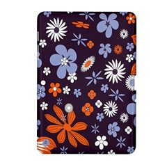 Bright Colorful Busy Large Retro Floral Flowers Pattern Wallpaper Background Samsung Galaxy Tab 2 (10 1 ) P5100 Hardshell Case