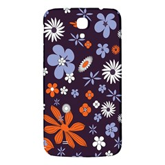 Bright Colorful Busy Large Retro Floral Flowers Pattern Wallpaper Background Samsung Galaxy Mega I9200 Hardshell Back Case