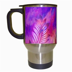 Littie Birdie Abstract Design Artwork Travel Mugs (white) by Nexatart