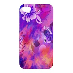 Littie Birdie Abstract Design Artwork Apple Iphone 4/4s Premium Hardshell Case