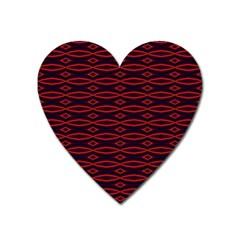 Repeated Tapestry Pattern Abstract Repetition Heart Magnet by Nexatart