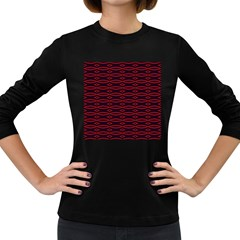 Repeated Tapestry Pattern Abstract Repetition Women s Long Sleeve Dark T Shirts by Nexatart