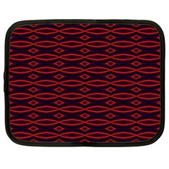 Repeated Tapestry Pattern Abstract Repetition Netbook Case (large) by Nexatart