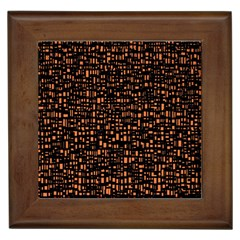 Brown Box Background Pattern Framed Tiles