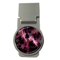 Grunge Purple Abstract Texture Money Clips (round)
