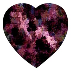 Grunge Purple Abstract Texture Jigsaw Puzzle (heart) by Nexatart