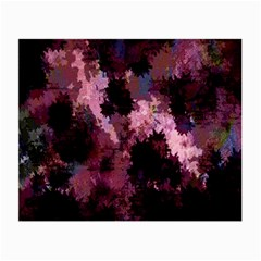 Grunge Purple Abstract Texture Small Glasses Cloth (2 Side) by Nexatart