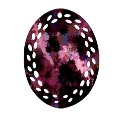 Grunge Purple Abstract Texture Oval Filigree Ornament (two Sides) by Nexatart