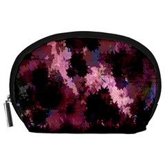 Grunge Purple Abstract Texture Accessory Pouches (large)