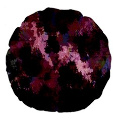Grunge Purple Abstract Texture Large 18  Premium Flano Round Cushions