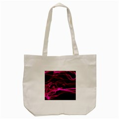 Abstract Pink Smoke On A Black Background Tote Bag (cream) by Nexatart