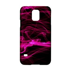 Abstract Pink Smoke On A Black Background Samsung Galaxy S5 Hardshell Case  by Nexatart