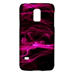 Abstract Pink Smoke On A Black Background Galaxy S5 Mini by Nexatart