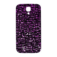 Purple Denim Background Pattern Samsung Galaxy S4 I9500/i9505  Hardshell Back Case by Nexatart